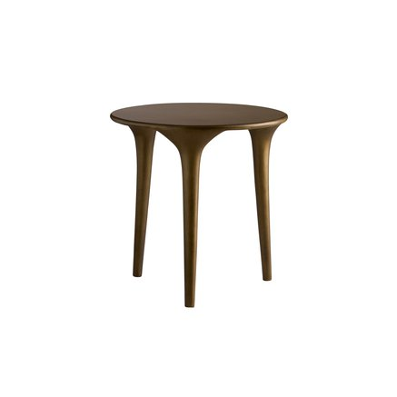 Three-legged coffee table, honey glaze, small
