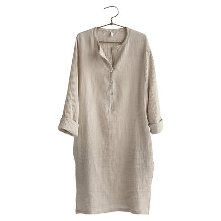 Dress, size 1 - S/M, cotton, sand