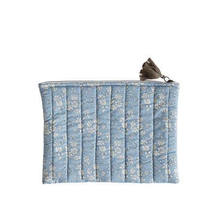 Clutch, M, 19x27 cm, Liberty, cotton, blue