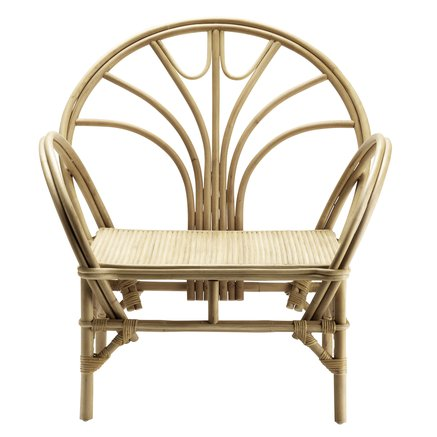 Lounge chair in rattan with arm rest