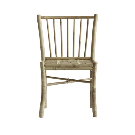 Bamboo dining side chair without armrest