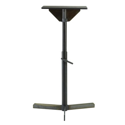 Side table in iron, 29 x 33 x H 55-80 cm